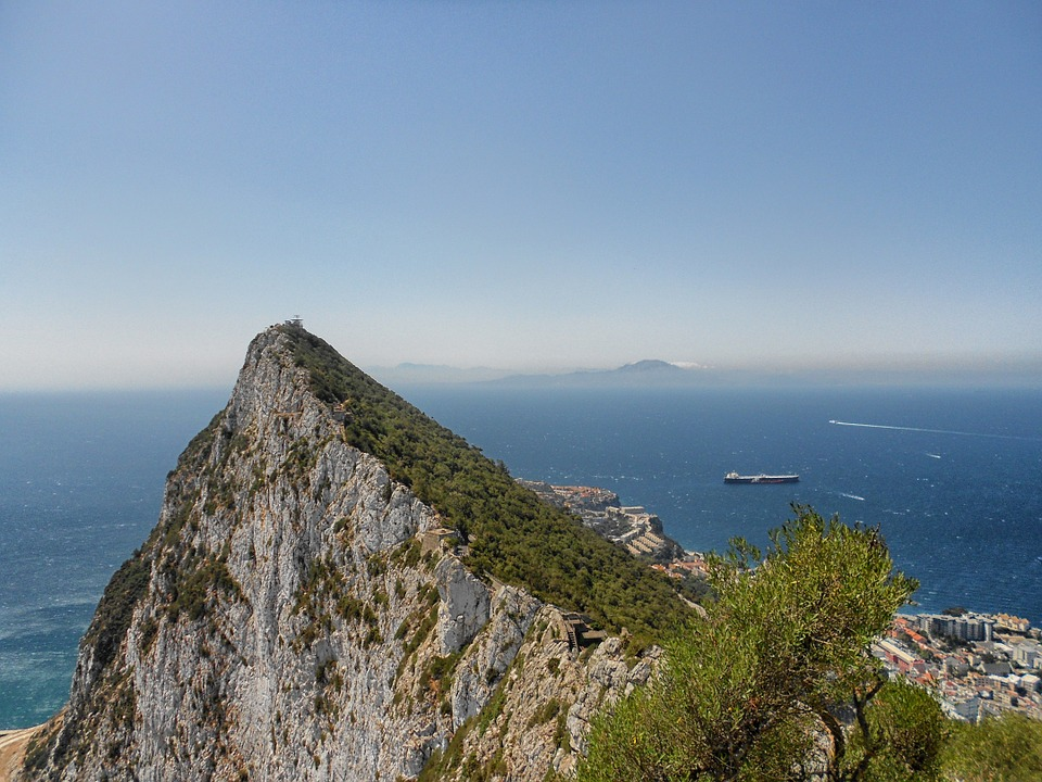 Views to Africa from The Rock in Gibraltar