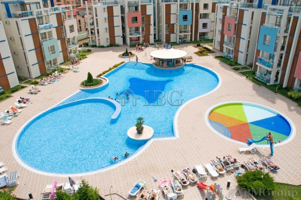 Pool vIew 1-bedroom apartment In Sun CIty 1, Sunny Beach
