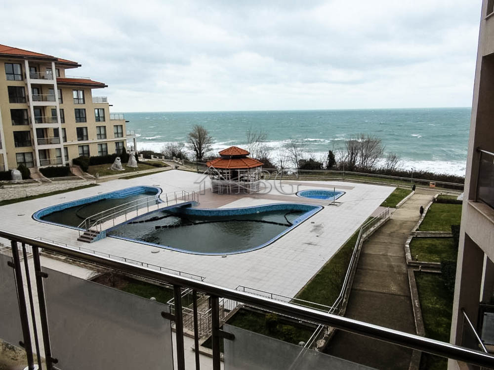 BIg apartment wIth 1 bedroom and panoramIc Sea VIew In Byala Beach Resort, Varna area